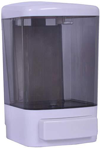 OVAL Dispensador Gel antibacterial o Jabón líquido, Jabonera Rellenable Blanca, Capacidad de 1 litro, Práctica y Durable 20 x 12 x 11 cm