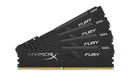 HyperX Fury 16GB 2666MHz DDR4 CL16 DIMM (Kit of 4) Black XMP Desktop Memory HX426C16FB3K4/16