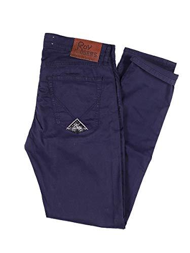 Roy Roger's Pantalone Read Gabardina Strecth Made in Italy Blu, 31