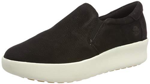 Timberland Berlin Park Slip-on, Sneakers Basse Donna, Negro Black Nubuck, 38 EU
