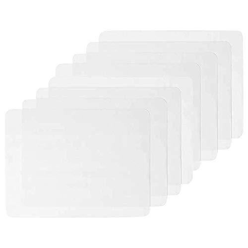 MOPOIN 8 Stück Kunststoff Tischsets Transparent Platzsets Schmutzabweisend Abwaschbar Tischsets Abgrifffeste Hitzebeständig Platzdeckchen als Tischset Tischschutzmatte Oder Schreibunterlage, 40X30cm