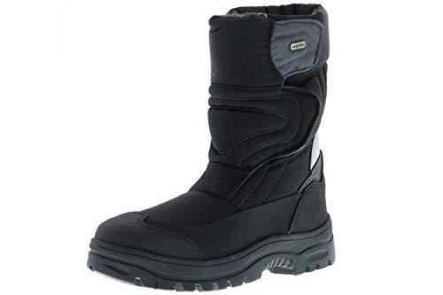 Vista Herren Winterstiefel Snowboots EISKRALLEN schwarz, Größe:43;Farbe:Schwarz