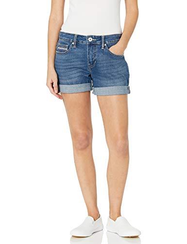 Jag Jeans Women's Alex Mid Rise Boyfriend Short Petite-Sustainable Fabric, Brilliant Blue, 8P