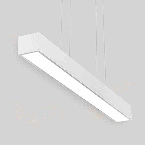 Lumières de Restaurant de LED Moderne Minimaliste Lumière Noire et Blanche Noire d'art d'art Lampe de Bureau Chandeliers (Couleur : Lumière Blanche)