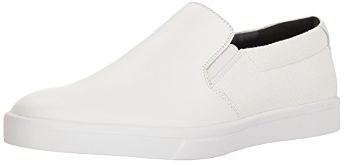 Calvin Klein Men's IVO Loafer, White, 12 Medium US
