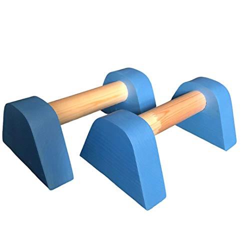 Bebé Azul Mini Madera Fitness Push Up Barras Parallettes Handstand Gimnasia Calistenia Fitness Yoga Fit Gimnasio Bar