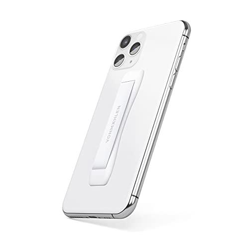 VONMÄHLEN Backbone Supporto per dita per smartphone, tablet - Impugnatura Sottile per cellulare, telefono - Design Moderno con Strisce adesive - Bianco