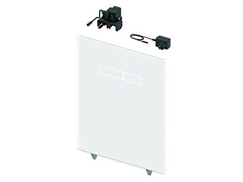 TECElux Betätigungsglasplatte mit sen-Touch Elektronik Glas weiß