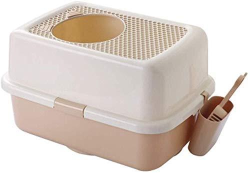 ZXL kat nest lade huisdier toilet top ingang type kat zand wastafel toilet grote ingesloten splash en deodorant kat training wc pot huisdier bed nest doos voor kleine dieren, konijnen, papegaaien, kleine doen