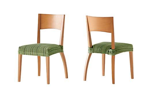 Pack de 2 Fundas de Asiento para silla modelo MEJICO, color VERDE, medida 40-50 cm ancho. 🔥