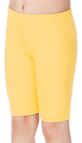 Merry Style Leggins Mallas Pantalones Cortos Ropa Deportiva Niña MS10-132 (Amarillo, 110 cm)