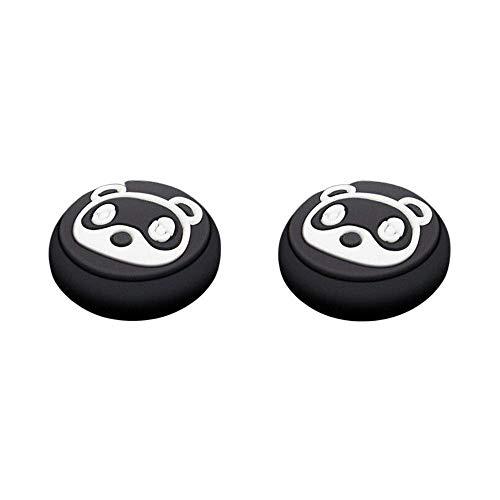 GOW 2 Controller-Kappen Kompatibel mit Nintendo Switch & Light - Animal Crossing Motive (Schwarz/Weiß)
