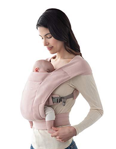 Ergobaby Babytrage für Neugeborene ab Geburt Extra Weich, Embrace Bauchtrage Baby-Tragetasche Ergonomisch, Blush Pink, BCEMAPNK