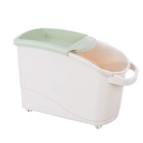 MAJOZ0 12.5KG Reisbehälter,Vorratsbehälter für Lebensmittel, Getreidespender, große Kapazität, Aufbewahrungsbox, versiegelt mit Deckel, für Tierfutter, Reis, Getreide, Bohnen