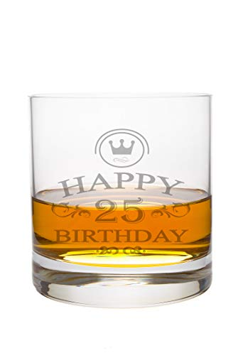 LEONARDO Whiskeyglas 25 Jahre Gravur - Geburtstag Geschenk Geschenkidee Whisky-Glas graviert