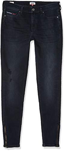 Tommy Jeans Damen MID RISE SKINNY NORA 7/8 ZIP CPT Skinny Jeans, Blau (Denim 1bj), W32/L30
