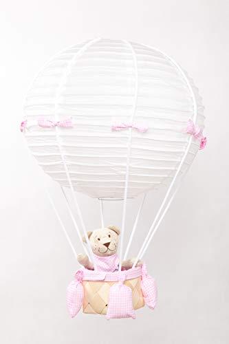 Bezaubernde Hängelampe für Baby- Kinderzimmer Teddy im Luftballon Handmade