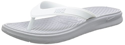 Nike Women's Solay Thong Sport Sandal, Wolf Grey/Pure Platinum-White, 9 Regular US