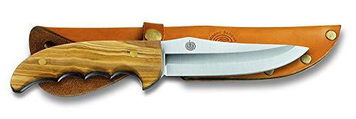Victorinox Muela Outdoormesser mit Holzgriff, inkl. Lederscheide, 9,5 cm gerade Klinge, 20,5 cm Gesamtlänge, Edelstahl