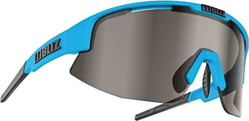 Bliz Matrix M12 Brille Shiny Blue/Smoke with Silver Mirror 2020 Sonnenbrille