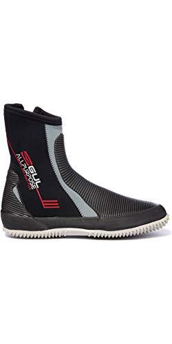 GUL All Purpose 5mm Boots en Negro y Gris - Unisex - Diseño Duradero para Botas de Larga duración para Todos los Deportes acuáticos