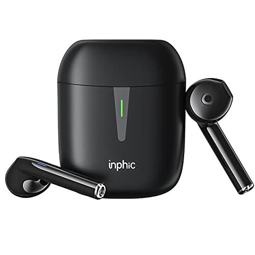 Kabellose Kopfhörer, Bluetooth Kopfhörer In Ear, IPX7 Wasserdichte Bluetooth 5.1 Kopfhörer Mit Ladebox,40H Spielzeit mit Kompakte Ladebox,Schwarz