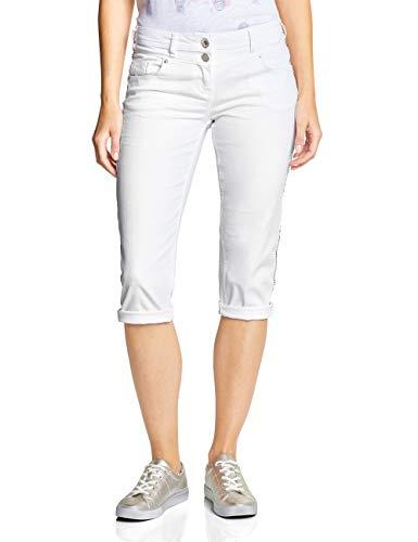CECIL Damen 372214 Charlize Slim Jeans per pack Mehrfarbig (white denim 10438), W32 (Herstellergröße:32)