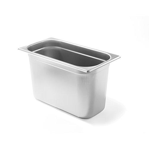 HENDI Gastronormbehälter, Temperaturbeständig von -40° bis 300°C, Heissluftöfen-Kühl- und Tiefkühlschränken-Chafing Dishes-Bain Marie, 7,8L, GN 1/3, 325x176x(H)200mm, Edelstahl