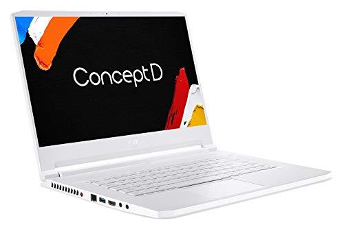 Acer ConceptD 7 CN715-71 15.6-inch 4K Display Studio Laptop (9th Gen Intel Core i7-9750H processor/32GB Ram/2TB SSD/Window 10 Pro/NVIDIA GeForce RTX 2080), White