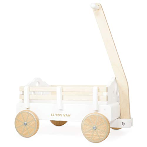 Le Toy Van - Pull Along Wooden Toy Wagon | Sustainable Children's Toy | Great as A Gift for Toddlers - Suitable for 3 Years + (TV602)