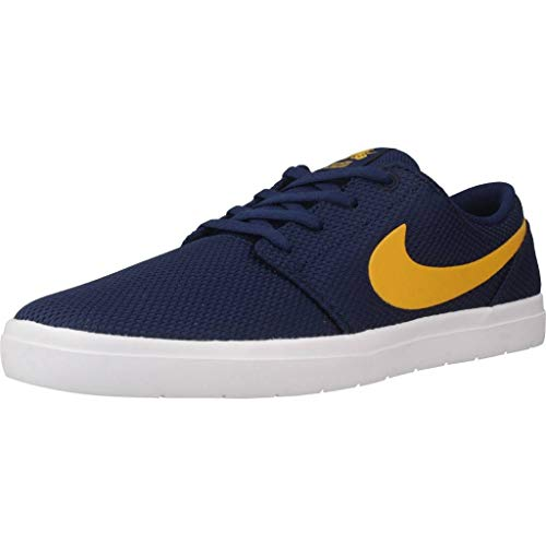 Nike Herren Sb Portmore Ii Ultralight Sneakers, Mehrfarbig (Blue Void/Yellow Ochre/White 001), 40 EU
