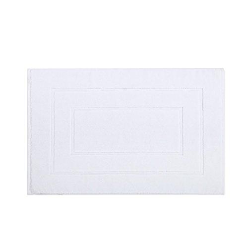C-K-P Five Star Hotel Tapis de salle de bain Toilettes Tapis antidérapant Tapis de pied Tapis absorbant de salle de bains (Couleur : Blanc)