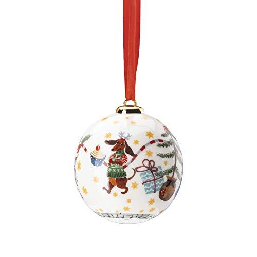 Hutschenreuther Sammelserie 2020 Morgen kommt der Weihnachtsmann Porzellankugel 6cm