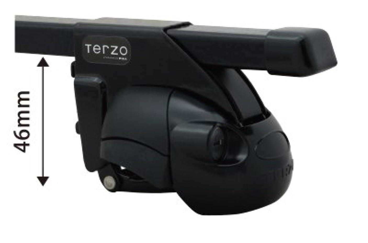 余暇シロナガスクジラ映画TERZO メルセデスベンツ Eクラスワゴン H22.2~ W212 ルーフレール付車 品番:EF11BL/EB3 ベースキャリア 1台分セット