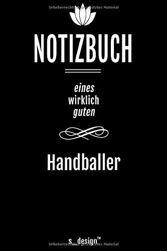 Notizbuch für Handballer / Handball-Spieler: Originelle Geschenk-Idee [120 Seiten liniertes DIN A6 blanko Papier]