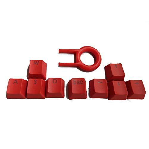 geneic 9 teclas PBT retroiluminadas teclas WASD/ESC/Dirección Cherry MX Keycaps con tapa dominante para MX interruptores retroiluminados teclado mecánico Gaming