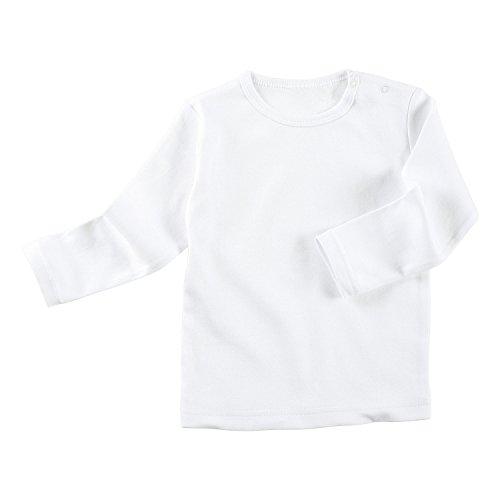 Erwin Müller Baby-Langarmshirt Interlock-Jersey weiß Größe 50/56