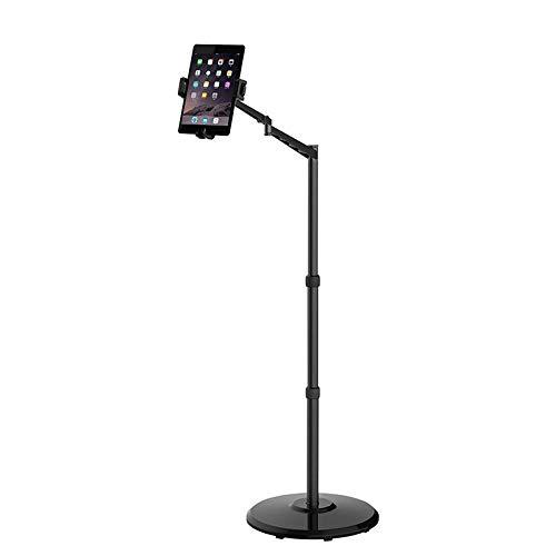 DWXN Aluminum Alloy Bath Tablet Stand,Height Adjustable 40-170cm/15.7-66.9in, Black Ipad Mini Tripod Stand for Phone Xr/Xs Max/X/8/7/6/6S/Plus Ipad 9.7'/Air/Mini Samsung Tab/S9 Note 9
