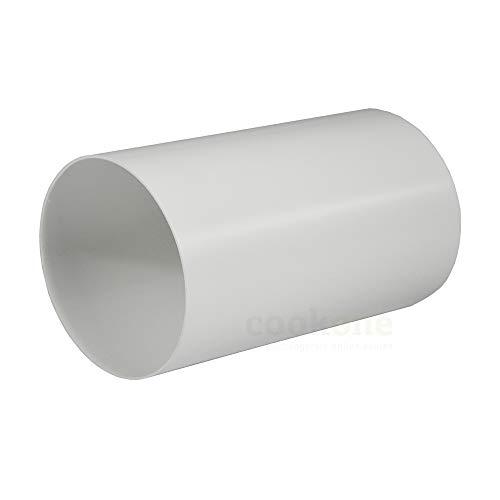 EASYTEC® Rundrohr Ø 150 mm | Länge 50 cm | außen 152mm, innen 148mm | Kunststoffrohr Abluftrohr Rundes Rohr