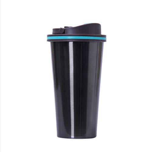 Viesky Taza térmica de acero inoxidable de 500 ml con tapa de agua, termo aislado para coche