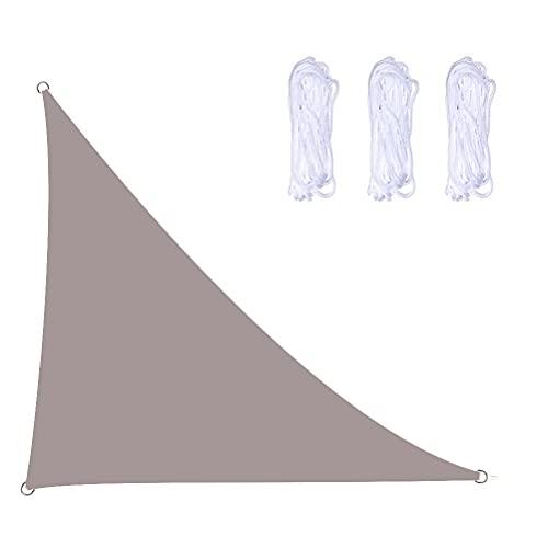 Chilits Toldo de vela de ángulo recto triángulo de vela de sol con bloqueo UV, impermeable, para exteriores, jardín, patio, patio trasero, bañera de hidromasaje