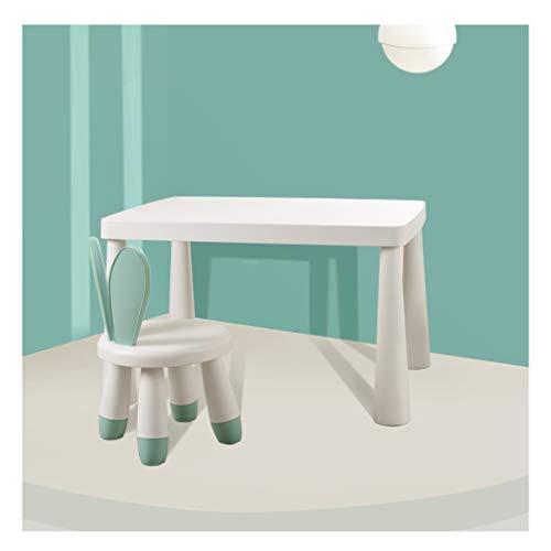 LRZS-Kids' Furniture Kleine Tische und Stühle Kindertisch Set Baby-Spielzeug-Tabelle Heim Kunststoff Lernen Schreibtisch Niedlich Stuhl Kinder Esstisch Spieltisch und Stuhl (Color : Green)