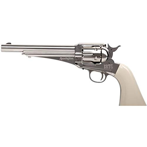 Revólver Crosman Remington 1875 | Pack Pistola de balines (perdigones Bolas de Acero BB's y Plomo). Arma de Aire comprimido CO2 Calibre 4,5mm.