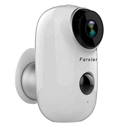 Farsler A3 Rechargeable Battery-Powered Camera Indoor/Outdoor Wireless Security Camera 1080p HD Wire-Free 2-Way Audio Night Vision Alarm Alert & PIR Motion Sensor w/Built-in SD Slot Bullet Cameras