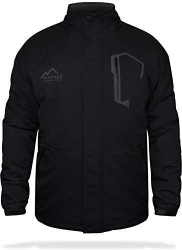normani Winterjacke Herren Yukon Outdoor Parka mit Kapuze und Fell bis -25° Farbe Schwarz Größe 4XL
