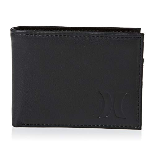Hurley Men's Leather Wallet, Black (010), One Size