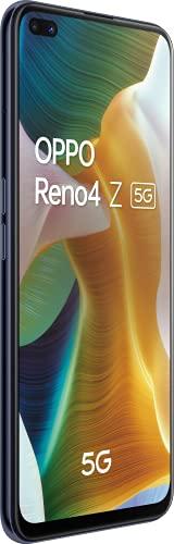 OPPO Reno 4 Z Noir Encre Smartphone débloqué 5G - 128 Go - 8 Go de RAM – Ecran 120Hz - Batterie 4000 mAh - Quadruple Capteur Photo 48 MP - USB-C - Android 10 - Téléphone Portable