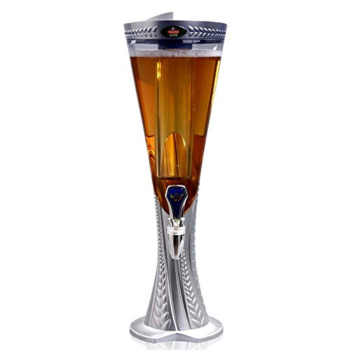 CASILE Bier Toren Dispenser ABS+PET materiaal 1.5L Koud Draft Bier Toren Drank Dispenser Perfect voor Feesten en Gameday