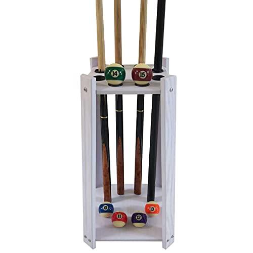Golvställ Cue Rack rymmer 8 Pool Cue Stick, fristående Pool Cue Rack för Home Club Game Room Biljard Supplie, Cue Rack Only (Cues, Balls och ingår ej)