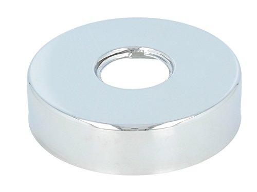 tecuro Gewinderosette (3/4) Ø 27 mm x Ø 80 mm x Höhe 20 mm, messing verchromt